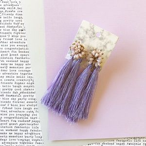 Purple Handmade Tassel Earrings